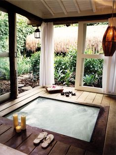 indoor/outdoor Jacuzzi at Casa Uxua Hotel in Trancoso #brazil #beach