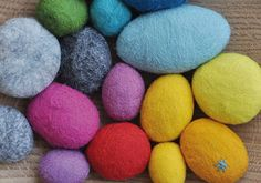 NATURKINDER: Felted and Embroidered Stones