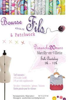 Bourse aux Fils et Patchwork, Marcilly-en-Villette (45240), Loiret
