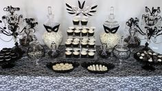 masquerade party dessert table - Google Search