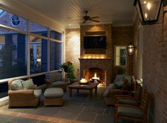Great #screened #porch!  Bill Bolin Photo, Christy Blumenfeld Architecture