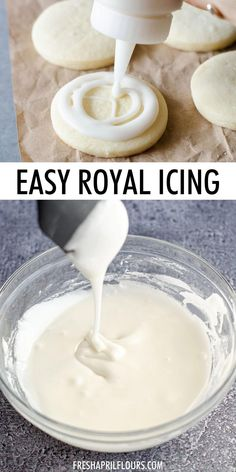 Royal Icing Recipe With Eggs, Flooding Icing Recipe, Royal Icing Recipe Without Meringue Powder, Icing Recipe For Cake, Frosting Recipes, Royal Icing Recipes, Meringue Icing, Royal Icing Cookies Recipe, Whipped Icing