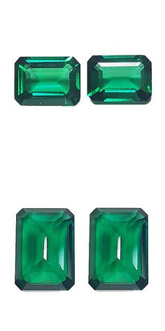 Lab-Created Emeralds 122956: 6.70 Ct Pair Of 2 Pc Octagon Shape Chrome Green Color Biron Lab Created Gemstone -> BUY IT NOW ONLY: $110 on eBay!