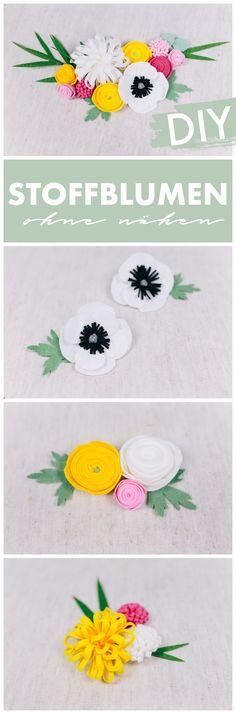 Stoffblumen selber machen - ohne nähen You & I DIY