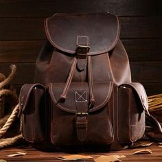 e913b15b271a Top Quality Crazy Horse Cowhide First Layer Knapsack Male Computer Bag  School Bags Vintage Genuine Leather Rucksack Men Backpack