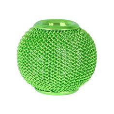 Lime Green Mesh Metal Bead