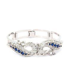Art Deco Bracelet French Paste Sterling Silver by RefinedRuffian