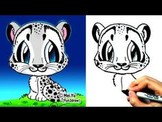 Image of: Cute Pandas How To Draw Animals How To Draw Snow Leopard Learn To Draw Fun2draw Free Keyword Suggestion Tool 233 Best Fun Draw Images Easy Drawings Fun Draw Kawaii Drawings