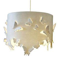 inspiration: fabric w/butterflies lamp