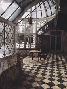 OH MY GOSH! Can I PLEASE have this room? Scrub the floors, repaint the paneling. :D I love this room!! XD XD - Megan