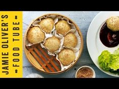 Pork Dim Sum by Jamie Oliver. Buns were too thick - need to flatten them more next time. Pork is delicious! Budget Freezer Meals, Frugal Meals, Groceries Budget, Jamie Oliver, Dim Sum, Sandra Lee Recipes, Coconut Buns, Steamed Pork Buns, Great Recipes