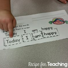 Students use mentor sentences in KINDERGARTEN! Balanced literacy- students will be reading and writing every day!