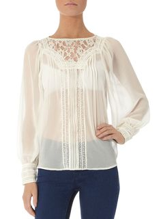 Ivory Victorian blouse - Tops - Clothing - Dorothy Perkins United States