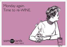 Image result for monday wine meme