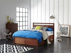 Fusion Queen Storage Bed Frame $1400