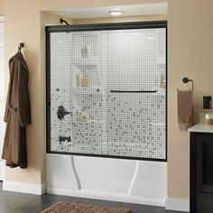 Delta Simplicity 60 in. x 58-1/8 in. Semi-Frameless Sliding Tub Door in Bronze with Mozaic Glass http://www.wartalooza.com/treatments/nail-polish