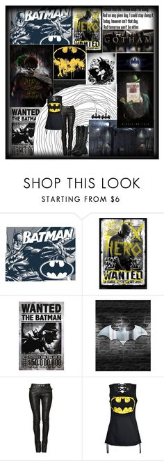 """""""Batman"""" by demolition-vampire ❤ liked on Polyvore featuring Balmain and Volatile"""