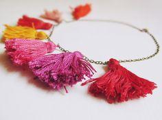 selfmade tassel necklace #DIY #necklace #tassel