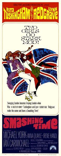 """""""Smashing Time"""" film poster, 1967"""