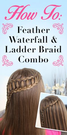 Have Some Extra Time? Learn How to Do a Feather Waterfall #Hairstyle! #video #beauty