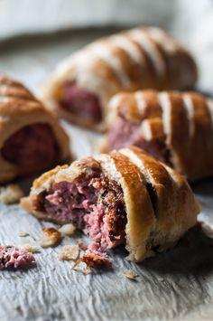 Meat rolls and Onion Chutney