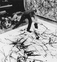 "When I'm painting, I'm not aware of what I'm doing. It's only after a get acquainted period that I see what I've been about. I've no fears about making changes for the painting has a life of its own. "" -Jackson Pollock"