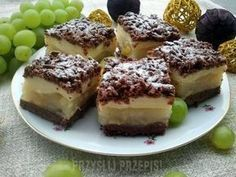 ciasto z budyniem i gruszkami Polish Desserts, Love Cake, Meal Planning, French Toast, Cheesecake, Food And Drink, Cooking Recipes, Favorite Recipes, Meals