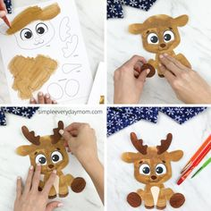 Need an easy Christmas craft any child can do?? This free printable reindeer craft is a great cut and paste activity for young children. Download the free template and color or paint your way to a cute little reindeer.