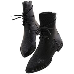 Blackfive Cro Effect Lace Up Platform Biker Boots (60 AUD) ❤ liked on Polyvore featuring shoes, boots, blackfive, black, motorcycle boots, black motorcycle boots, lace-up platform boots, platform shoes and black platform boots