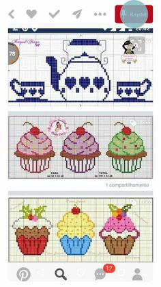 This post was discovered by Filiz Coşkun. Discover (and save!) your own Posts on Unirazi. Cupcake Cross Stitch, Cactus Cross Stitch, Cross Stitch Heart, Modern Cross Stitch, Cross Stitch Designs, Cross Stitch Patterns, Cross Stitching, Cross Stitch Embroidery, Embroidery Patterns