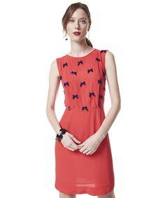 Vestido com Lacinhos Herchcovitch Vermelho - cea