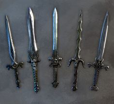 Celtic Daggers - Athame, these are really cool. Fantasy Dagger, Fantasy Weapons, Anime Weapons, Pretty Knives, Cool Knives, Swords And Daggers, Knives And Swords, Katana Swords, Hawke Dragon Age