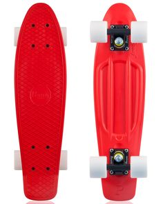 Peppermint Penny Skateboard. Perfect for summer crusin...Penny Skateboards Complete - Red, Black, White Wheels - WackSteez