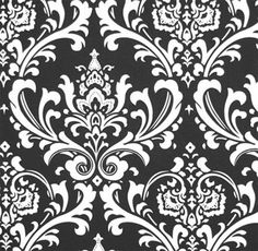 Ozborne Black / White | Online Discount Drapery Fabrics and Upholstery Fabric Superstore!