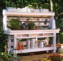DIY instructions to build master gardener's potting table.
