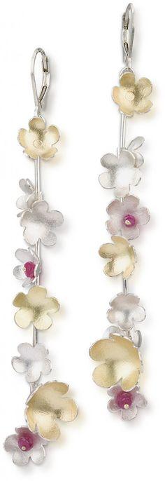 It's almost like wearing a spring flower chain!  #earrings Jamie Cassavoy   Maxs