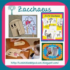 Preschool Alphabet: Z is for Zacchaeus