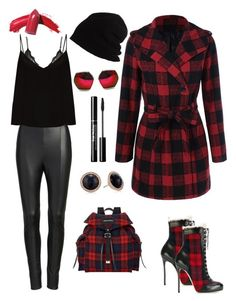 """""""No regrets"""" by fpb173 ❤ liked on Polyvore featuring Dsquared2, LoveStories, FOSSIL, Lyssé Leggings, Raey, SCHA and Spitfire"""