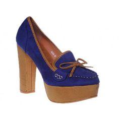 Pantofi cu platforma albastri Rachel