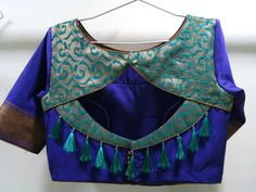 Collection of fancy and simple Back Side Blouse Designs for special occasions like wedding party. Trending blouse back neck designs to pair with your saree, Indian Blouse Designs, Blouse Back Neck Designs, Simple Blouse Designs, Stylish Blouse Design, Sari Design, Chiffon Saree, Slides Outfit, Lehenga, Blouse Designs Catalogue