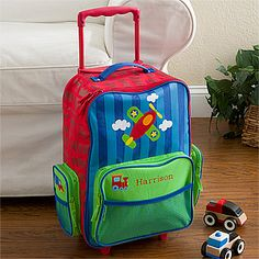 Stephen Joseph Little Boys' Rolling Luggage, Monkey, One Size ...
