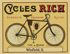Custom Name Personalized Bicycle Poster