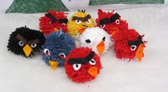 Diy Crafts For School, Diy And Crafts, Arts And Crafts, Yarn Monsters, Diy For Kids, Crafts For Kids, Monster Dolls, Textile Fabrics, Angry Birds