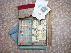 Forget Words With Friends and have some old-school fun on the road with this vintage travel Scrabble set.