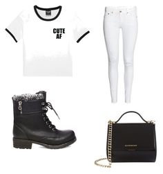 Black n white clothes 💢 by nicolettesingleton on Polyvore featuring polyvore, fashion, style, Steve Madden, Givenchy and clothing