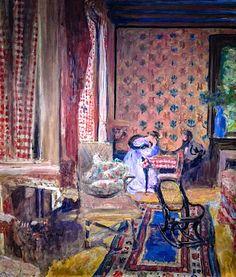 Edouard Vuillard - At the Board Game, 1902 at Städel Art Museum Frankfurt Germany Pierre Bonnard, Edouard Vuillard, Maurice Denis, Städel Museum, Art Japonais, Post Impressionism, French Artists, Oeuvre D'art, Lovers Art
