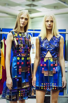 Peter Pilotto Spring 2015 London Fashion Week Backstage