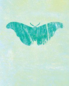 Butterfly Art - block prints