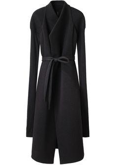 O MY GOD I WANT THIS SO BADLY  Neoprene Jersey Coat, Rick Owens, lagarconne.com, $1534