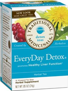 Fat Shrinking Signal - Traditional Medicinals Everyday Detox Herbal Tea - Case Of 6 - 16 Bags - Do This One Unusual Trick Before Work To Melt Away Pounds of Belly Fat Herbal Detox, Herbal Tea, Everyday Detox Tea, Full Body Detox, Natural Detox Drinks, Best Detox, Fat Burning Detox Drinks, Weight Loss Detox, Lose Weight
